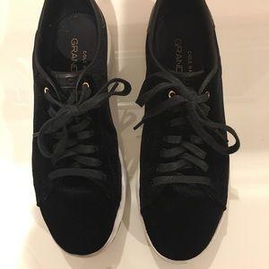 Cole Haan Grandpro Tennis blk velvet sneakers,8.5